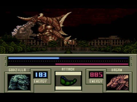 Super Godzilla combat gameplay