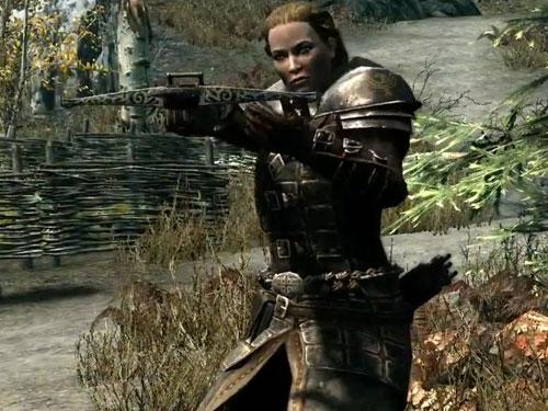 Dawnguard member with crossbow