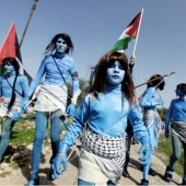 Avatar style protest in Palestine