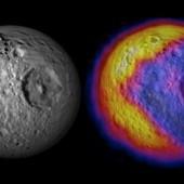 Mimas - temperature scheme (Pac man like picture)