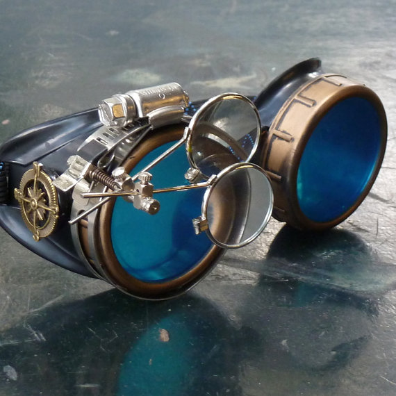 Victorian Steampunk goggles $19.99 from Umbrella Laboratory on Etsy