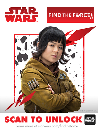 Rose Find The Force scan from Force Friday 2017