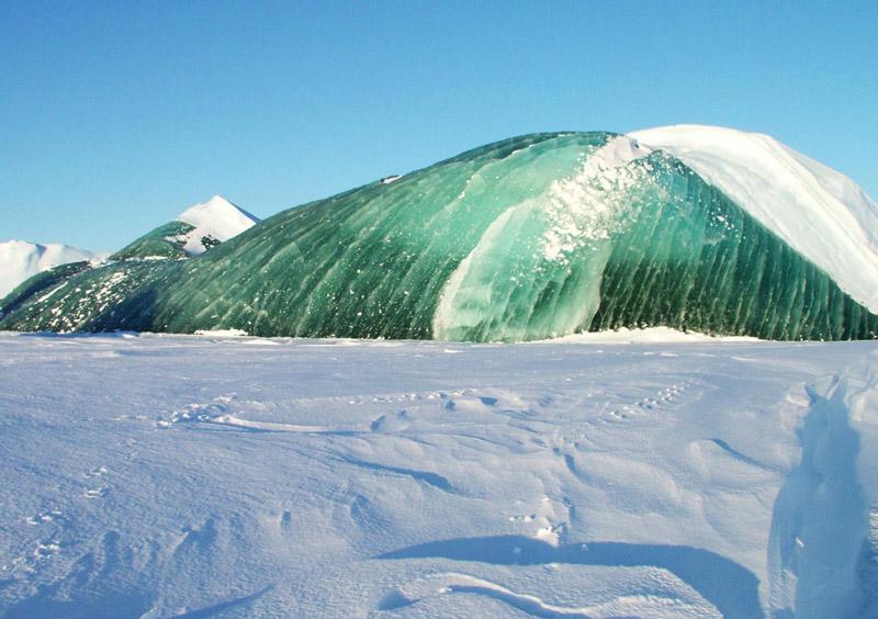 The emerald ice of Antarctica.