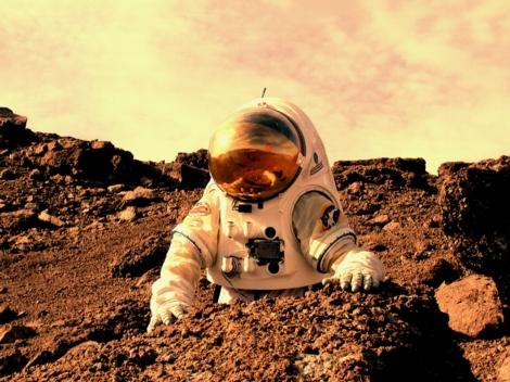 Human on Mars