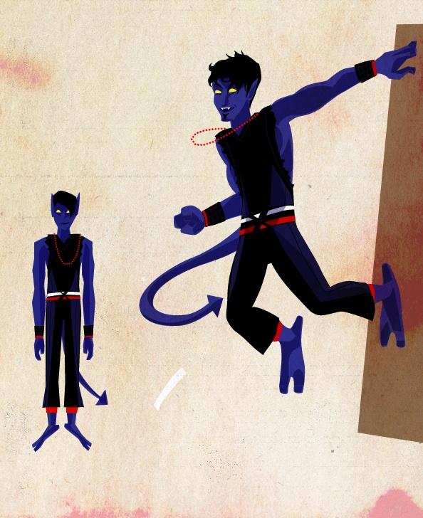 Josh Siegel's 80's inspired redesign for Nightcrawler.