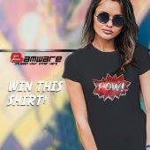 Bamware POW Rhinestone Hero Crystal Tee