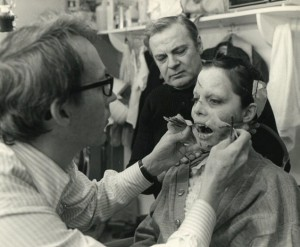 Dick Smith attached the vomit device to Linda's stunt double. (From Smith's official website.)
