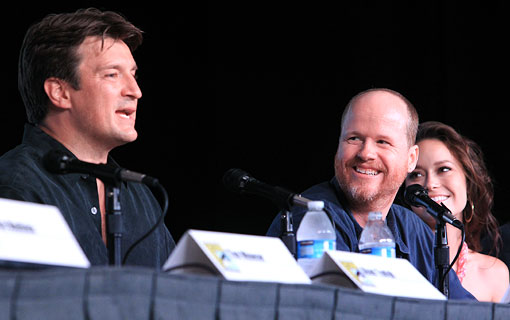 Nathan Fillion and Joss Whedon at the Firefly panel