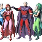magneto, quicksilver, scarlet witch
