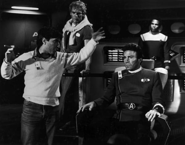 Nicholas Meyer directs 'The Wrath of Khan'. [Credit: Paramount]