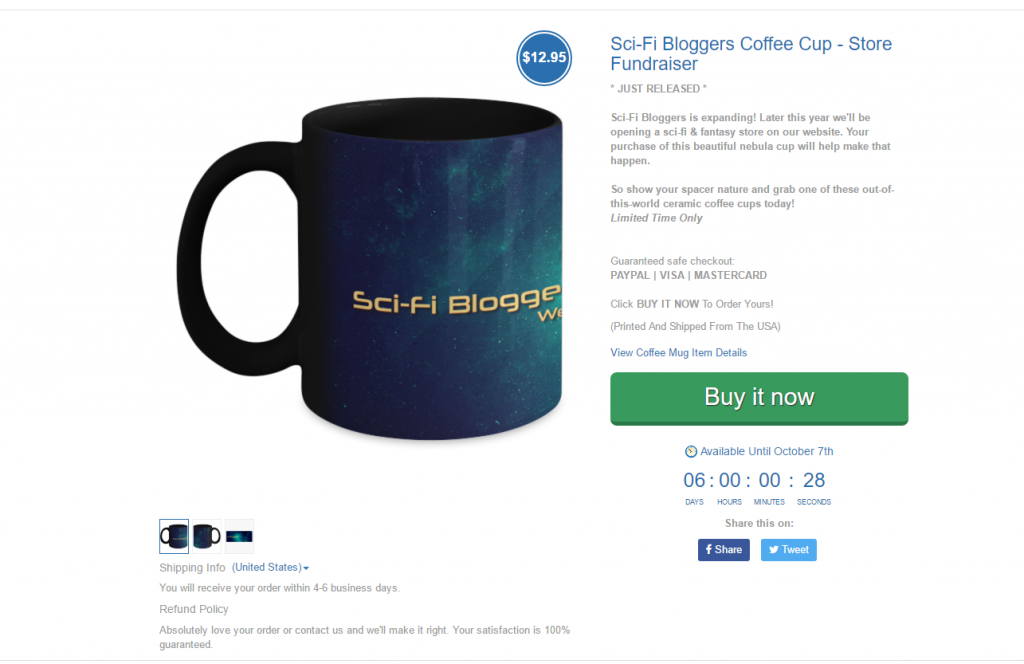 Sci-Fi Bloggers Gear Bubble Campaign