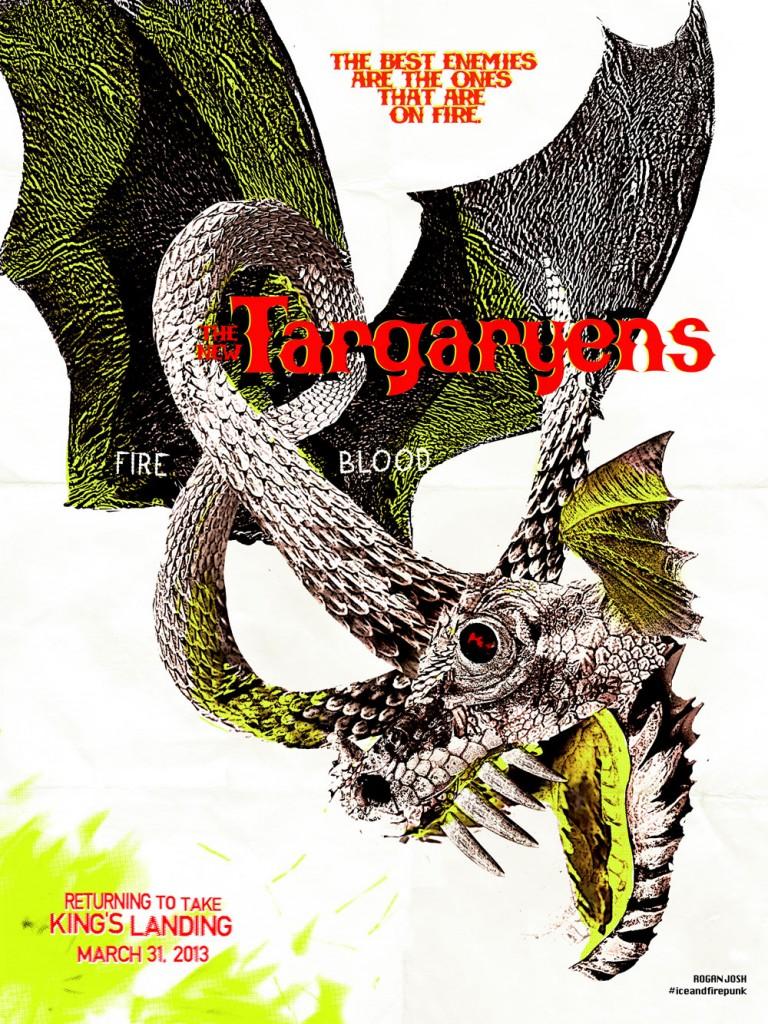 The Targaryen punk poster by Siegel.